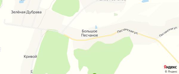 Карта Большого Песчаного села в Белгородской области с улицами и номерами домов