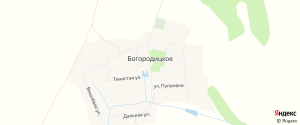 Карта Богородицкого села в Белгородской области с улицами и номерами домов