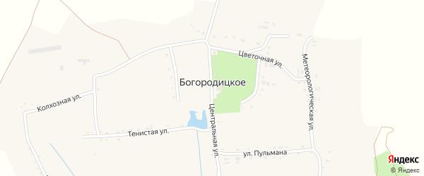Тенистая улица на карте Богородицкого села с номерами домов