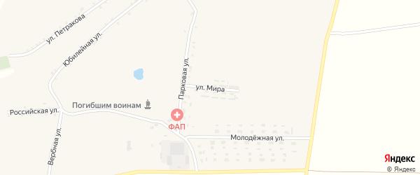 Улица Мира на карте села Юрьевки с номерами домов