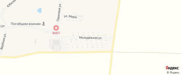 Молодежная улица на карте села Юрьевки с номерами домов