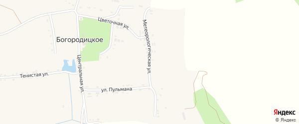 Метеорологическая улица на карте Богородицкого села с номерами домов
