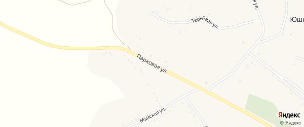 Парковая улица на карте села Юшково с номерами домов