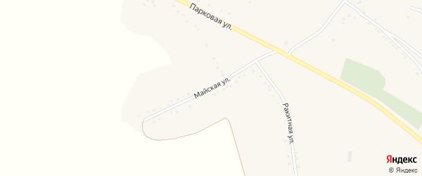 Майская улица на карте села Юшково с номерами домов