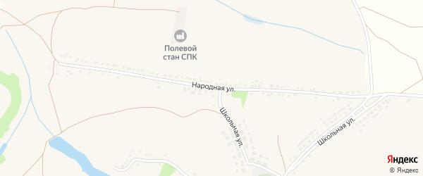 Народная улица на карте села Яблоново с номерами домов