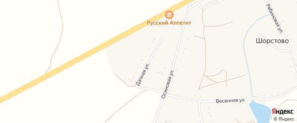 Дачная улица на карте села Шорстово с номерами домов