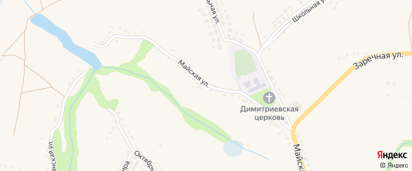 Майская улица на карте села Яблоново с номерами домов