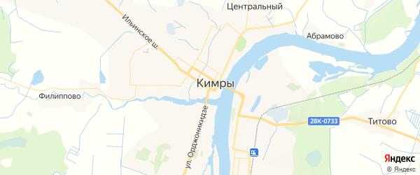 Карта Кимр с районами, улицами и номерами домов: Кимры на карте России