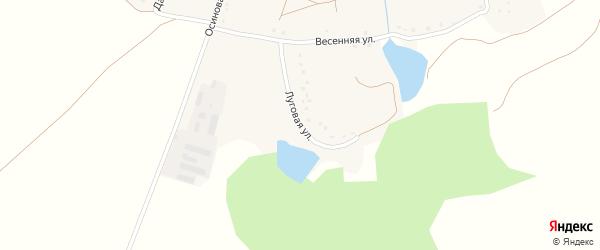 Луговая улица на карте села Шорстово с номерами домов