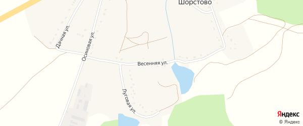 Весенняя улица на карте села Шорстово с номерами домов