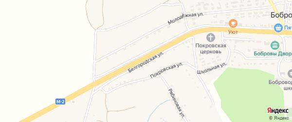Белгородская улица на карте села Шорстово с номерами домов