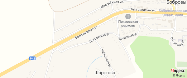 Покровская улица на карте села Шорстово с номерами домов
