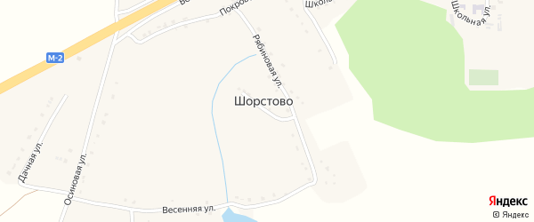 Тихий переулок на карте села Шорстово с номерами домов