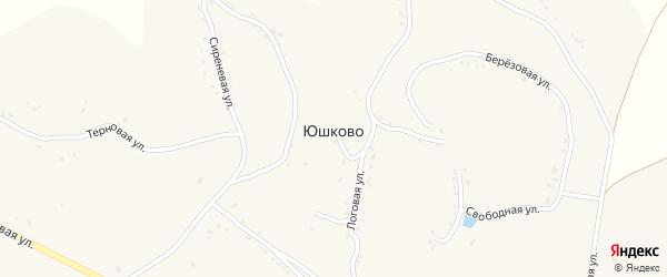 Логовая улица на карте села Юшково с номерами домов