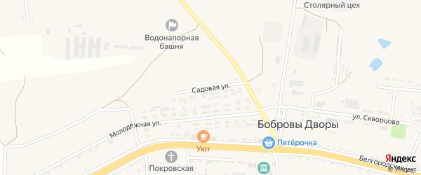 Садовая улица на карте села Бобровы Дворы с номерами домов