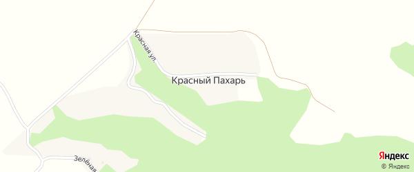 Красная улица на карте хутора Красного Пахаря с номерами домов
