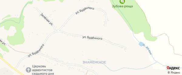 Улица Буденного на карте села Яблоново с номерами домов