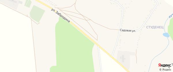 Улица Забродина на карте села Яблоново с номерами домов