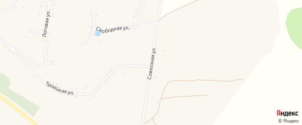 Совхозная улица на карте села Юшково с номерами домов