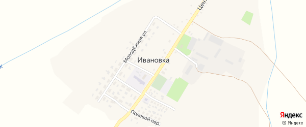 Речная улица на карте села Ивановки с номерами домов