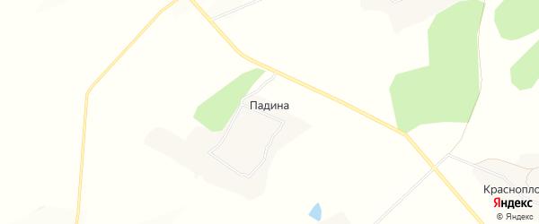 Карта хутора Падиной в Белгородской области с улицами и номерами домов
