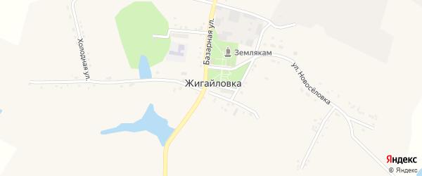 Улица Новоселовка на карте села Жигайловки с номерами домов