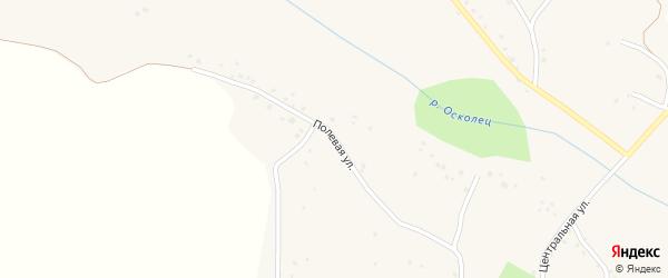 Полевая улица на карте села Оскольца с номерами домов