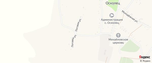Логовая улица на карте села Оскольца с номерами домов