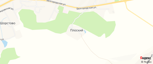 Карта Плоского хутора в Белгородской области с улицами и номерами домов