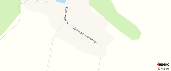 Демократическая улица на карте села Ивановки с номерами домов