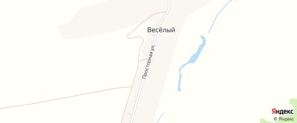 Просторная улица на карте Веселого хутора с номерами домов