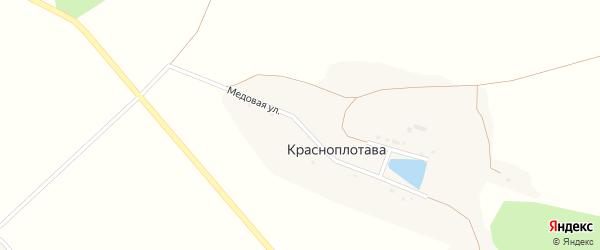 Фермерская улица на карте хутора Красноплотавы с номерами домов