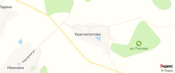 Карта хутора Красноплотавы в Белгородской области с улицами и номерами домов