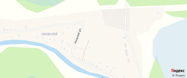 Нижняя улица на карте Абрамовской деревни с номерами домов