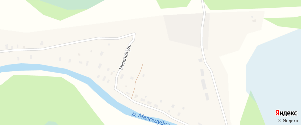 Верхняя улица на карте Абрамовской деревни с номерами домов