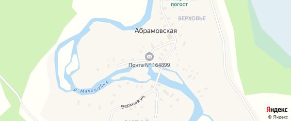Улица Победы на карте Абрамовской деревни с номерами домов