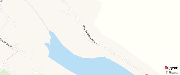 Федоровская улица на карте села Оскольца с номерами домов