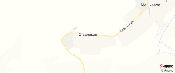 Карта хутора Стадникова в Белгородской области с улицами и номерами домов