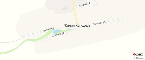 Полевая улица на карте хутора Жилина Колодезя с номерами домов