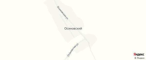 Карта Осиновского хутора в Белгородской области с улицами и номерами домов