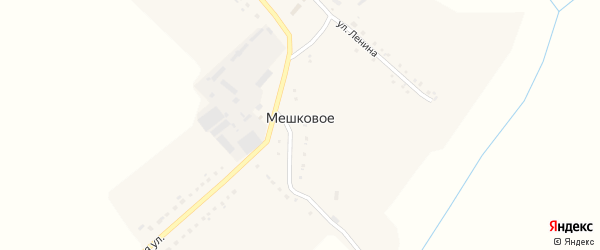Коммунистическая улица на карте Мешкового села с номерами домов