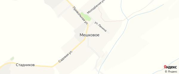 Карта Мешкового села в Белгородской области с улицами и номерами домов