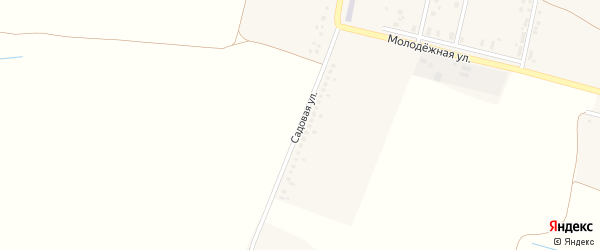 Садовая улица на карте хутора Дубовеньки с номерами домов