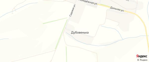 Карта хутора Дубовеньки в Белгородской области с улицами и номерами домов