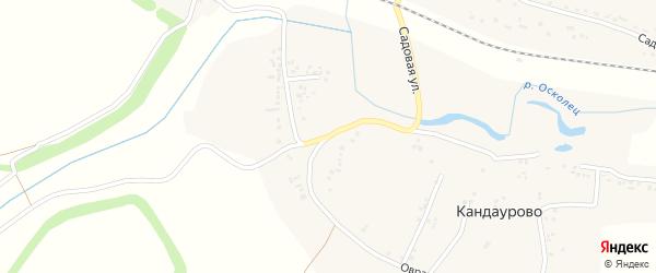 Овражная улица на карте села Кандаурово с номерами домов