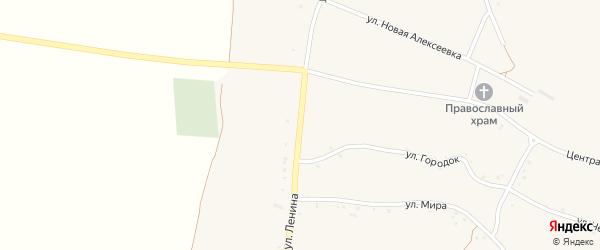 Улица Ленина на карте села Булановки с номерами домов