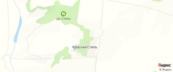 Карта хутора Красной Степи в Белгородской области с улицами и номерами домов