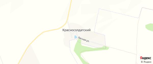 Карта Красносолдатского хутора в Белгородской области с улицами и номерами домов