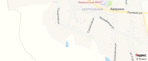 Солнечная улица на карте села Аверино с номерами домов