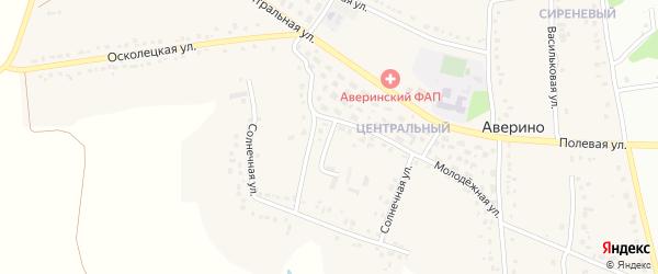 Многоэтажная улица на карте села Аверино с номерами домов